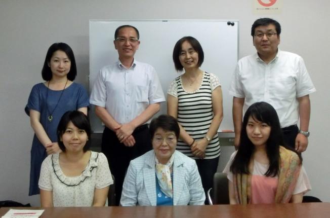 2015年7月受講者。当日は梅雨明けの日で、受講者もインタビュアーとしての新たな一歩を踏み出しました。